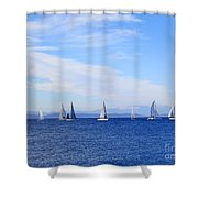 Race In Point Roberts Shower Curtain