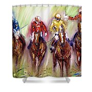 Irish Racehorses Available As A Signed And Numbered Print See Www.pixi-.com Shower Curtain