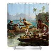 Race To The Market Tahiti Shower Curtain