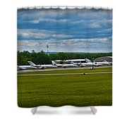 Race Week 2014 Pocono Airport  Shower Curtain