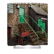 Racecourse Colliery  Shower Curtain by Adrian Evans