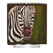Racer, Zebra Shower Curtain
