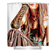 Rachael In Pensive Mood Shower Curtain