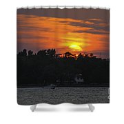 Racing Against The Sunset Shower Curtain