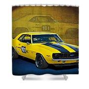 Racing Camaro Shower Curtain