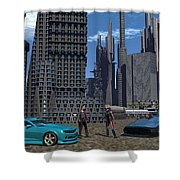 Racing For Titles Shower Curtain