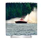 Racing Speed Boat Shower Curtain