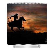 Racing The Sun Shower Curtain