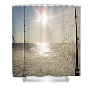 Racing To The Fishing Grounds Shower Curtain