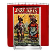Racist Poster For Jesse James Theatrical Presentation No Location Or Date-2013  Shower Curtain