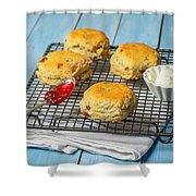 Rack Of Scones Shower Curtain