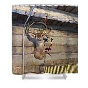 Rack On The Wall Shower Curtain