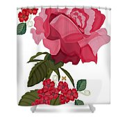 Rad Pink And Red Rose Shower Curtain
