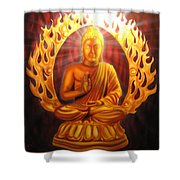 Radiant Buddha  Shower Curtain