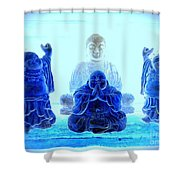 Radiant Buddhas Shower Curtain