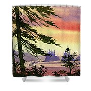 Radiant Coast Shower Curtain