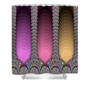 Radiant Columns Shower Curtain