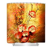 Radiant Faces Shower Curtain