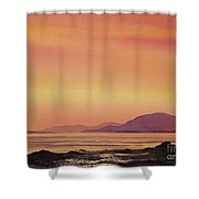 Radiant Island Sunset Shower Curtain