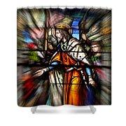 Radiant Jesus Shower Curtain