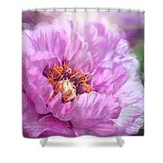 Radiant Orchid Peony Shower Curtain
