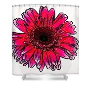 Radiant Sketch Shower Curtain