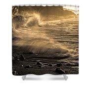 Radiant Sunrise Surf Shower Curtain