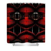 Radiation Dna Glow Shower Curtain
