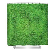 Radiation Green Shower Curtain
