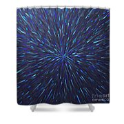 Radiation Grey  Shower Curtain