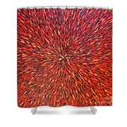 Radiation Red  Shower Curtain