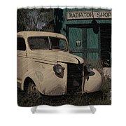 Radiator Shop Shower Curtain