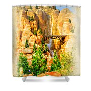 Radiator Springs Waterfall Shower Curtain