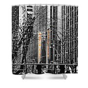 Radio City At Christmas - Black And White Shower Curtain