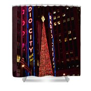 Radio City At Christmas Shower Curtain