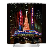 Radio City At Christmas Time - Holiday And Christmas Card Shower Curtain