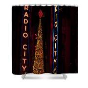 Radio City Christmas Shower Curtain