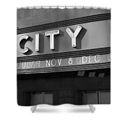 Radio City In Black And White Shower Curtain