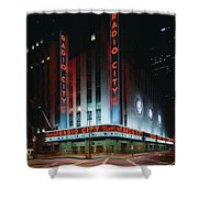 Radio City Music Hall In New York City Shower Curtain