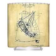 Radio Telescope Patent From 1968 - Vintage Shower Curtain