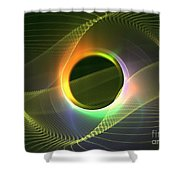 Radiowave Shower Curtain