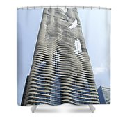 Radisson Blu Facade Vertical Shower Curtain