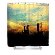 Raf Bomber Command  Shower Curtain