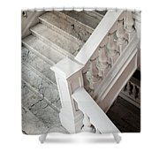 Raffle's Hotel Marble Staircase Shower Curtain