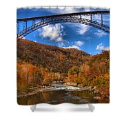 Rafting Down The New River Gorge Shower Curtain