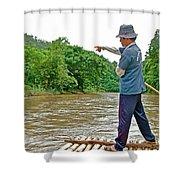 Rafting Guide On Mae Thang River Near Chiang Mai-thailand Shower Curtain