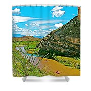 Rafting In Santa Elena Canyon In Big Bend National Park-texas Shower Curtain