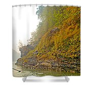 Rafting Near Shore In The Seti River-nepal   Shower Curtain