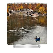 Rafting The New River Shower Curtain