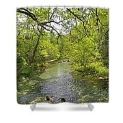 Rafting The Springs Shower Curtain